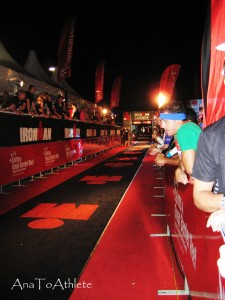 The magical glow of the Ironman Finish Shute - Cairns 2012
