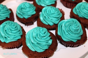 Tiffany's-inspired Chocolate Cupcakes.  I dare you not to feel uplifted!