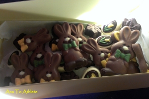 My hand-made Easter chocolates for the family.  Happy Easter everyone! xoxo